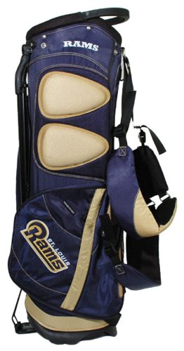 St Golf Louis Bag Rams (Team Golf NFL Los Angeles Rams Fairway Golf Stand Bag, Lightweight, 14-way Top, Spring Action Stand, Insulated Cooler Pocket, Padded Strap, Umbrella Holder & Removable Rain Hood)