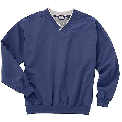 (Rivers' End Mens Lined Microfiber Windshirt Athletic Jacket Blue M)