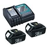 Makita DC18RC Lithium-Ion Battery Charger with (2) BL1830 LXT 18V 3 Ah Batteries with 1 Plastic Cover