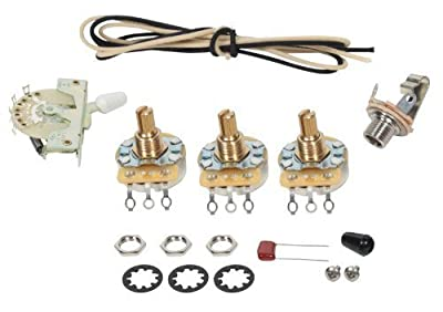 Fender Stratocaster Strat 5-way Wiring Kit - CRL Switch - CTS Pots by 920D Custom Shop
