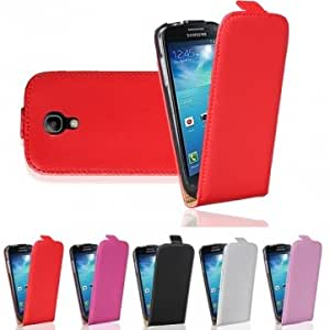 Flip-Open Leather Case For Samsung Galaxy S4 Mini i9190 --- Color:Black