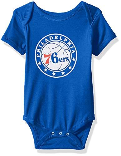 6a2254e0005 Outerstuff NBA NBA Newborn   Infant Philadelphia 76ers Primary Logo Short  Sleeve Bodysuit