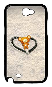 Love Winnie Polycarbonate Hard Case Cover for Samsung Galaxy Note 2/ Note II/ N7100 Black