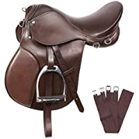 Mr Oreo All Purpose English Riding Horse Saddle Perfect (Brown, 80 to 105 kg Person)