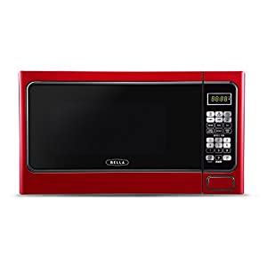 Bella BMO11ABTBKD 1000W Family-Sized Digital Microwave Oven, 1.1 cu. ft., Metallic Red