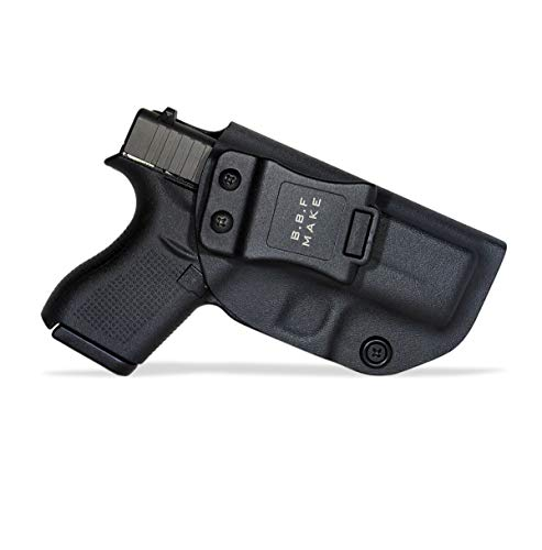 B.B.F Make IWB KYDEX Holster Fit: Glock 42 | Retired Navy Owned Company | Inside Waistband | Adjustable Cant | US KYDEX Made (Black, Right Hand Draw (IWB))