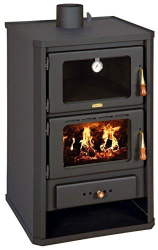 Estufa de leña con horno de Prity FG; chimenea, combustible Sólido, 14 kW: Amazon.es: Bricolaje y herramientas