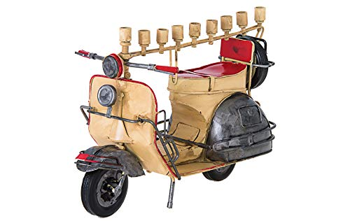 Copa Judaica Old School Moped Chanukah Menorah - for Standard Hanukah Candles - Olden Day Motor Bike Menora - 6.5