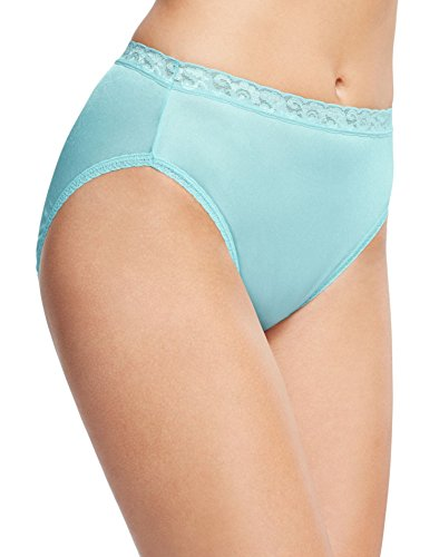 Hanes Women's 6 Pack Nylon Hi-Cut Panties, Assorted, 8