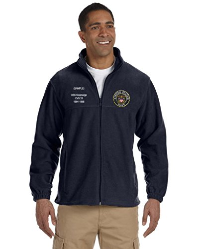 Navy Embroidered Zip - 1