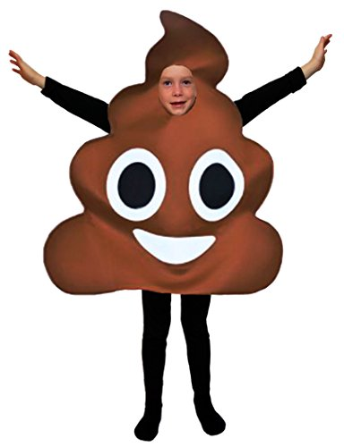Favorite Emoticon Emoji Costumes for Boys and Girls (Child, Poo) -