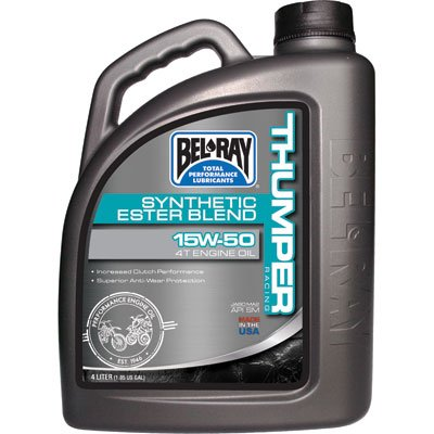 Bel-Ray Thumper Racing Synthetic Ester Blend 4T Engine Oil - 15W50 - 4L. ()
