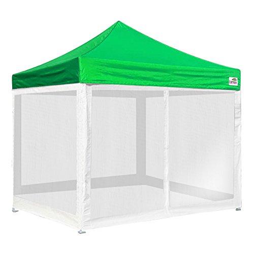 Basic 10×10 Ez Pop up Canopy Screen Houses Shelter Instant Party Tent Gazebo +4 Removable Zipper End Mesh Sidewalls + Roller bag (Kelly Green)
