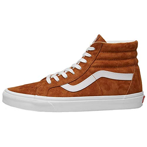 Brown White Vans Reissue Spruce Pig SK8 True Suede Darkest Hi R8RzS