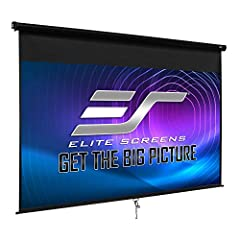 Elite Screens Manual B series is a great choice for any home/business/professional video presentations. It is easy to install and comes with an auto-lock mechanism that allows for various height settings.        Manual B Series features inclu...