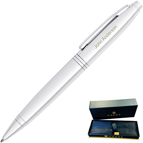 Dayspring Pens | Personalized Cross Calais Gift Ballpoint Pen, Lustrous Chrome. Custom Engraved 1 Line of Engraving. Gift for a man or woman. AT0112-1 Fast engraving by Dayspring Pens (Image #1)