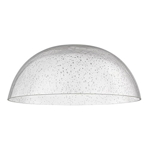 - Clear Seeded Glass Shade 13-Inch Wide 1.63-Fitter