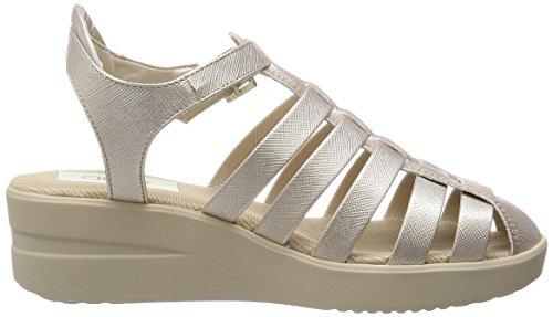Agile by Rucoline Woman Wedge Sandal 210 A SPAKO Oro iDgawVgTD