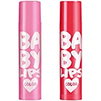 DICOP STORE Baby Lips Cherry Kiss Lip Balm, 4.5 g (Pink +Red) -2 Pieces