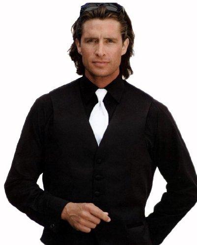 Tuxedo Shirt - Non Pleat Microfiber Ultra Laydown Collar, Black