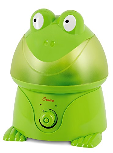 Crane USA Humidifiers - Frog Adorable Ultrasonic Cool Mist Humidifier - 1 Gallon Adjustable Mist Output, Automatic Shut-off, Whisper-Quiet Operation for Home Bedroom Office Kids & Baby Nursery