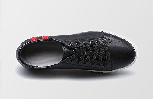 Oxfords De Deporte Zapatos Deportivos De MUYII Para Llana Zapatos Black Hombre Casual Zapatos Cuero Antideslizantes Para Hombre Punta Zapatos De 5fq5wxtd