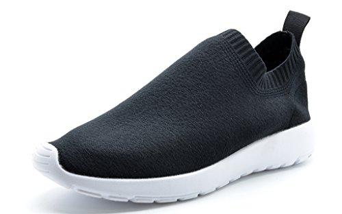 DREAM PAIRS Neue Mode Damen Lady Easy Walk Slip-On Leichte Freizeit Comfort Loafer Schuhe Turnschuhe 160486-schwarz-weiß