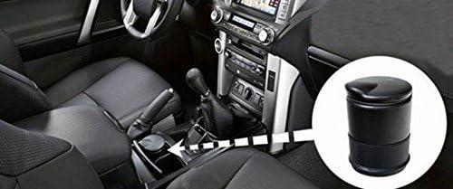 haodou voiture Cendrier rond Forme Haute Temp/érature de tol/érance Sceau Cendrier avec couvercle Porte-gobelet Cendrier Noir 7/* 7/* 10/cm