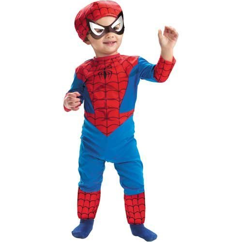 Spiderman Costume Classic Toddler Boy - Toddler (All Of The Spiderman Costumes)
