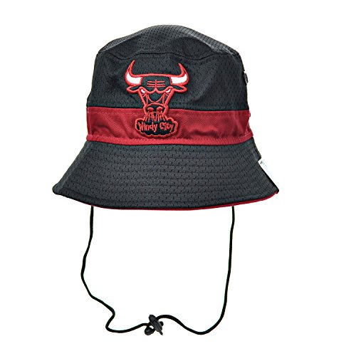 29208a0af1d New Era Chicago Bulls Jersey Pop Men s Bucket Hat Cap Black Red 80237382  (Size l-xl) - Buy Online in UAE.