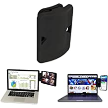 IUME Side Mount Clip For Dual Monitor Experience iPad Holder and Tablet Stand Mount for Your Laptop, Instant Second Display Compatible With Most Laptops - Black