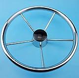 FidgetFidget Boat steering wheel 13-1/2 inch stainless steel 5 spoke 25Degree