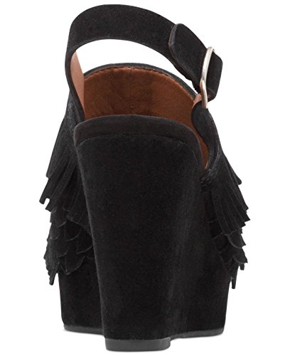 Punta Cuña Black Brand Abierta Zapatilla Jeena Tobillo Lucky Piel de Mujeres Correa Talla TB7qnt