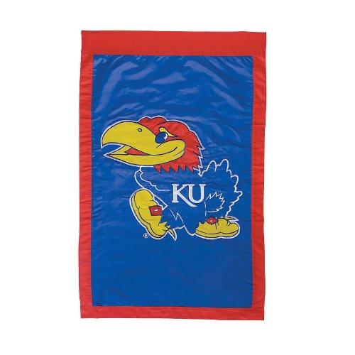 NCAA Kansas Jayhawks Royal Blue 28'' x 44'' Team Logo Applique Flag