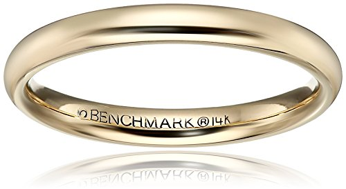 High Domed Comfort Fit 14K Gold Wedding Band, 3mm