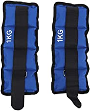 Sand Bag Weights, 2Pcs Leg Ankle Wrist Sand Bag Weights Strap Strength Training Equipment for Gym Fitness Yoga