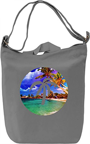 Summer Palm Borsa Giornaliera Canvas Canvas Day Bag| 100% Premium Cotton Canvas| DTG Printing|