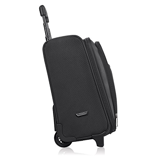 Solo Dakota 16 Inch Rolling Laptop Case with Overnighter Section, Black by SOLO (Image #2)