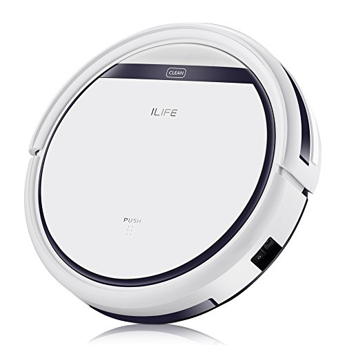 ILIFE V3s Pro Robotic Vacuum Pet Hair Care, Powerful Suction Tangle-free, Slim Design, Auto Charge, Daily Planning, Good For Hard Floor and Low Pile Carpet - One Touch Fine Point