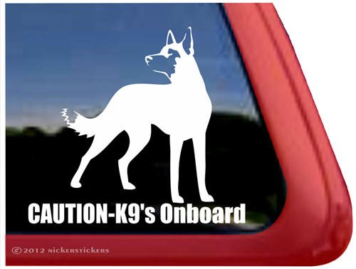 Caution Onboard Belgian Malinois Sticker