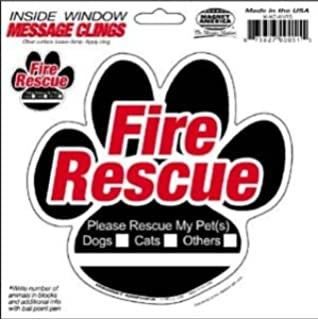 Amazoncom Pack Pet Rescue Alert To Fire Department Window - Window alert decals amazon