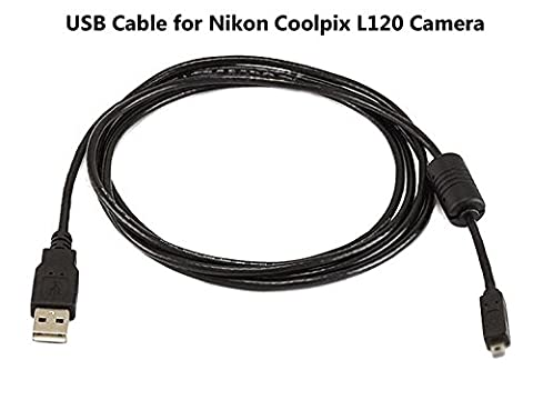 USB Cable for Nikon Coolpix L120 Camera, and USB Computer Cord for Nikon Coolpix L120 (Cool Pix Camera Cord)