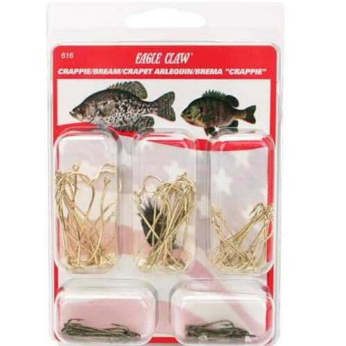 Eagle Claw Crappie/Bream Assortment Hook, 80 Piece for sale  Delivered anywhere in USA
