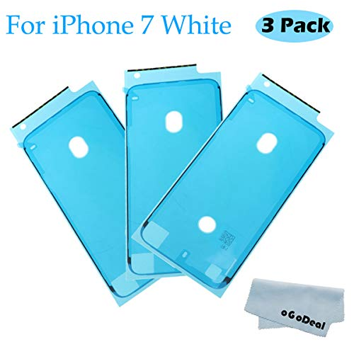 Ogodeal Screen Adhesive Strips Waterproof Pre-Cut Seal Stickers Replacement for Model iPhone 7, Water Liquid Damage Repair Adhesive Glue Replacement White ()