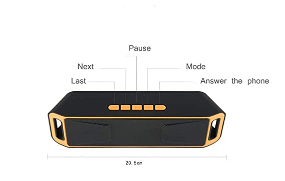 HAJZF Altavoz inalámbrico Bluetooth portátil 4,0 Caixa de SOM Altavoces estéreo subwoofer TF USB FM Radio Mic Dual Bass Sound Box,Black: Amazon.es: Deportes ...