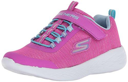 Skechers Kids Girls' GO Run 600-SPARKLE Runner Sneaker, PKMT, 11.5 Medium US Little Kid