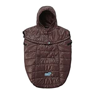 7am enfant pookie poncho light baby bunting bag marron glace baby. Black Bedroom Furniture Sets. Home Design Ideas