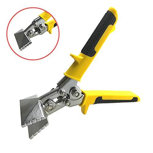 Red Oak Tools Sheet Metal Hand Seamer – 3 Inch Straight Jaw Metal Bender – Yellow