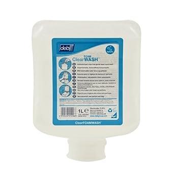 DEB CLEAR FOAM WASH 1L CART CLR1L PK6: Amazon.es: Industria ...