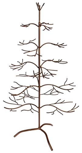 "Red Co. Ornament Tree Christmas Décor/Jewelry and Accessory Display in Copper Finish - 36"" h"